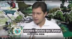 Vereador Leandro usa a tribuna e aborda limpeza pública e aquisição de área para cemitério