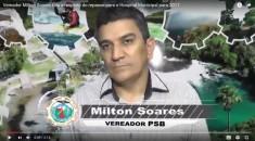 Milton Soares solicita providências quanto a continuidade da pavimentação no Olenka e no Alvorada