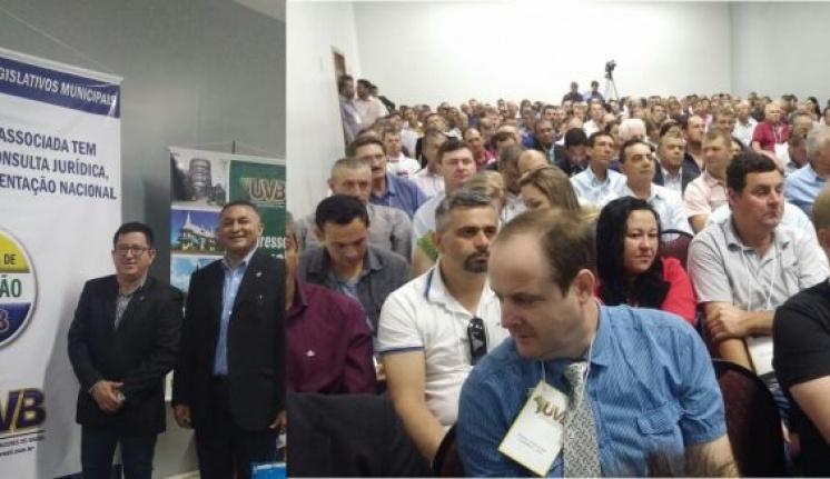 Vereadores Milton Soares, Dionardo Mendes, Gilberto Vieira e Japinha participam do 52ª edição do Congresso Brasileiro UVB
